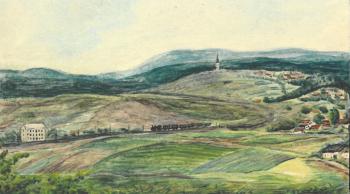 Pohled na Trhové Dušníky 1939