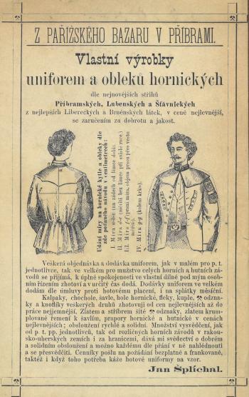Reklama na hornické uniformy