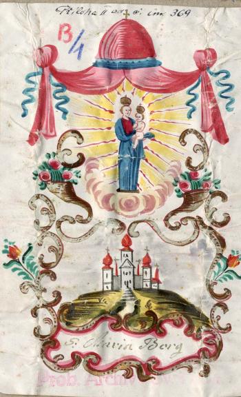 Svatohorský obrázek, před rokem 1778.